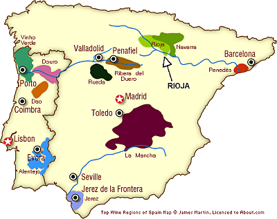 Map Of Spain Rioja.Where Is Rioja And What Wines Can I Taste Food And Wine With Karl