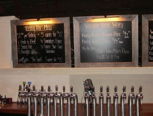 Vancouver Urban Winery wines on tap