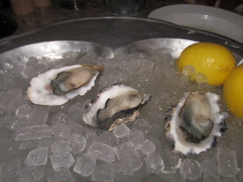 Fresh beach oysters from Oyster Express