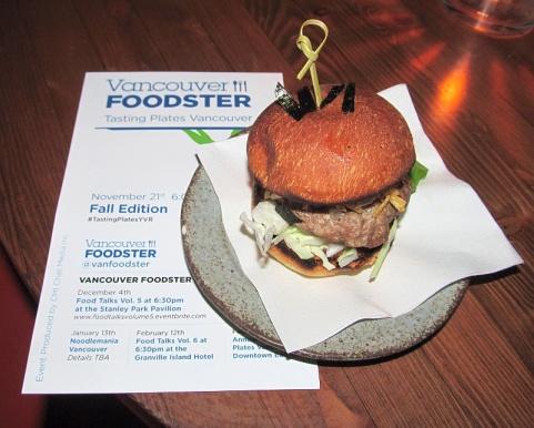 Fukuro burger slider from Electric Owl