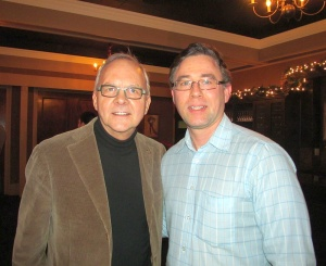 Karl with John Bishop