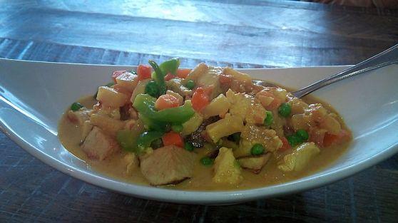 Manok sa gata (Chicken in milk)