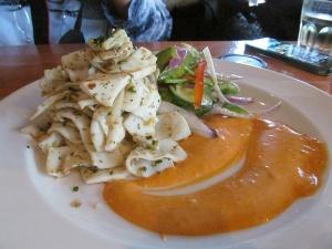 Pan seared calamari