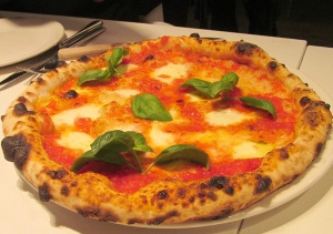 Margherita pizza at Nicli Antica