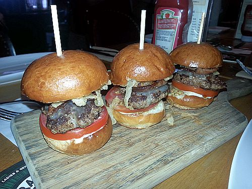 Beef sliders at Romers