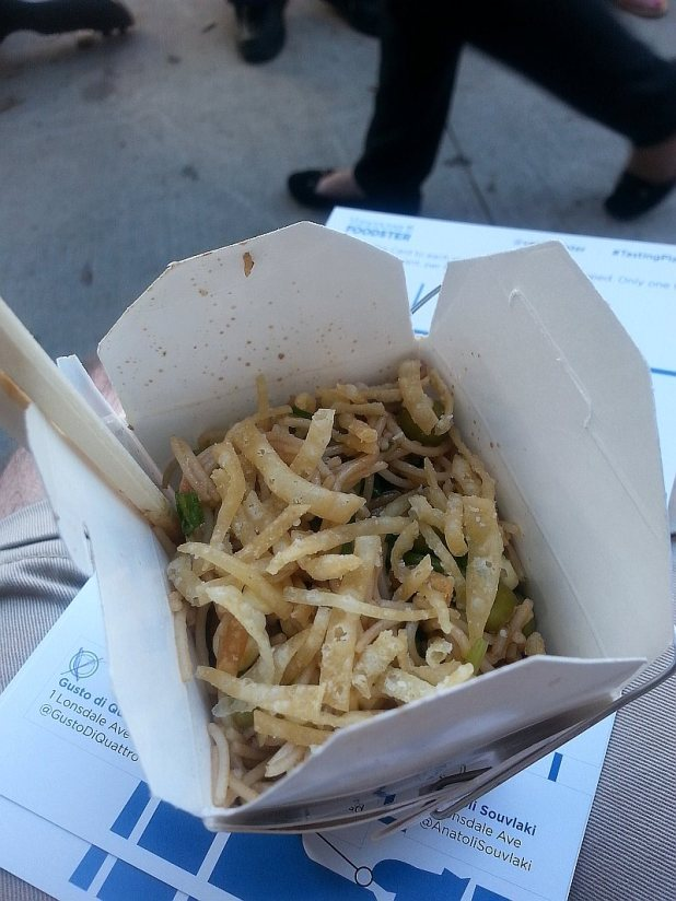 Gusto di Quattro Italian Noodle box with an asian twist