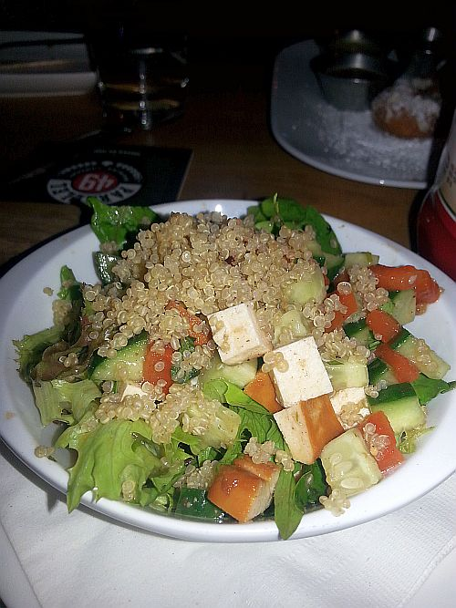 Quinoa salad with smoked tofu at Romers