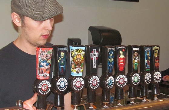 9 beers on tap at Parallel 49 brewery