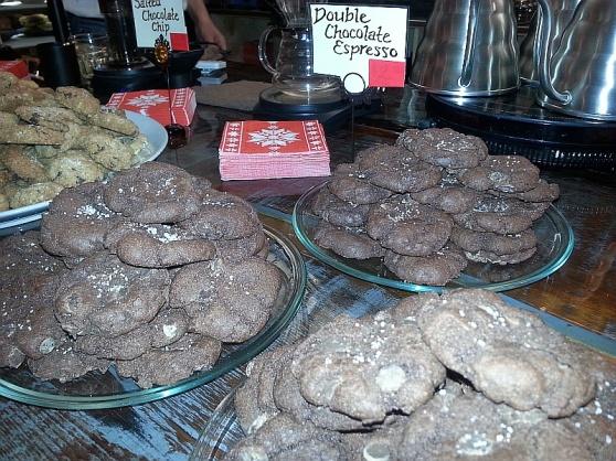 Gluten free cookies at Platform 7 Coffee