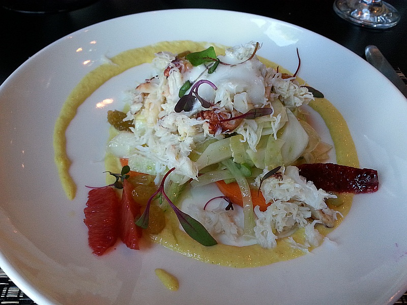 Dungeness Crab Salad Shaved Fennel and Lemon Foam