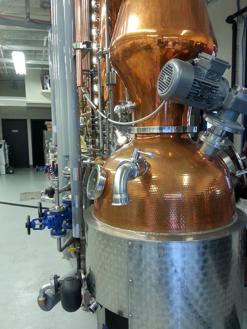 Still apparatus from Liberty Distillery