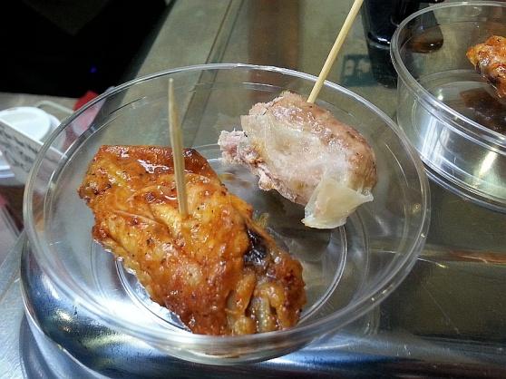 Turkey finnochio sausage and hot buffalo chicken wings