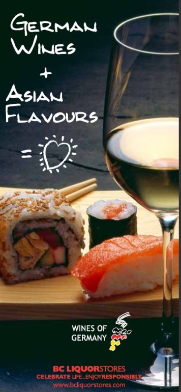 German wines and asian flavours
