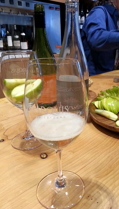 Haywire The Bub and nec-otium Pinot Grigio at Marquis Wine Cellars