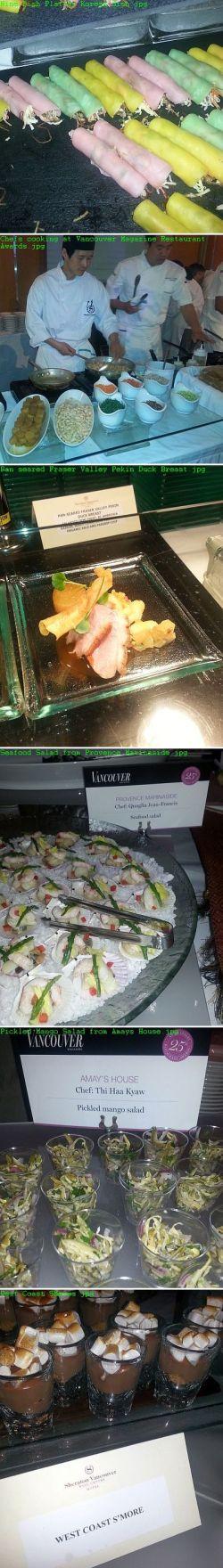 Vancouver Magazine Restaurant Awards Dishes Sampled