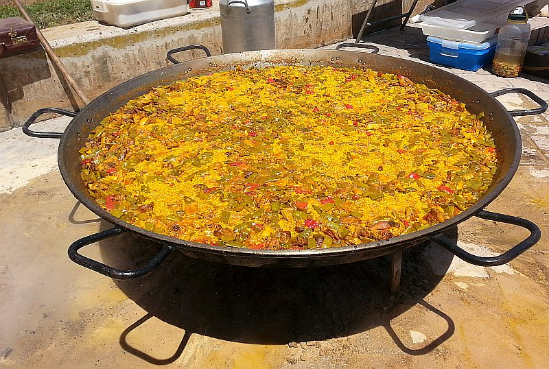 Paella - finished cooking
