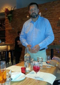 Bill McCaig from Niclis Next Door introducing us to the restaurant