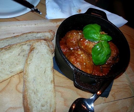Braised meatballs with Marina sauce
