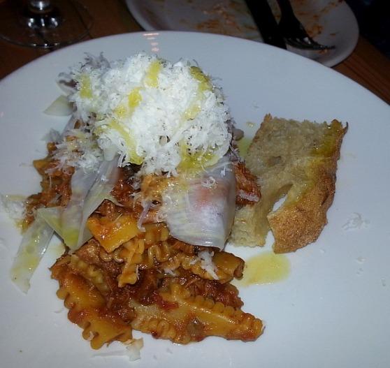 Reginette with pork ragu napoletana