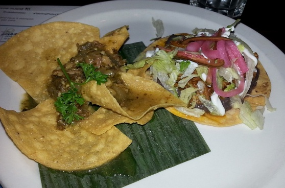 Las Margaritas Chile Verde and Cochinita Tostada