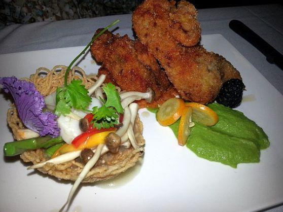 Chicken fried quail