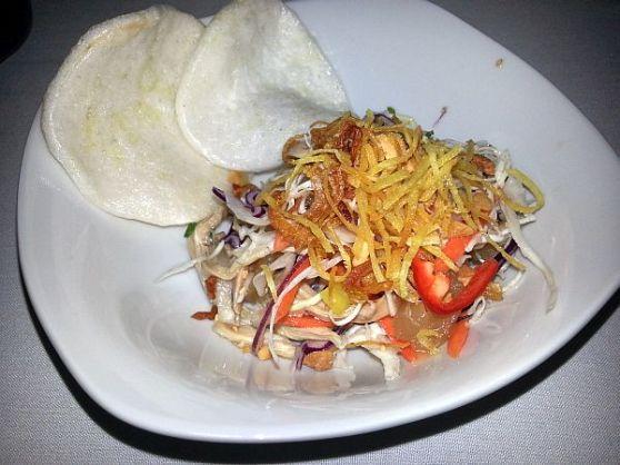 Dragon Fruit Leaf Chicken Salad