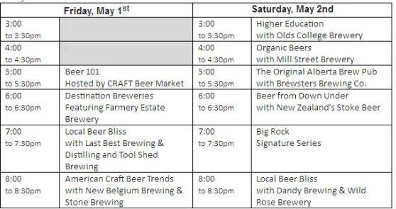 Beer fest seminar schedule