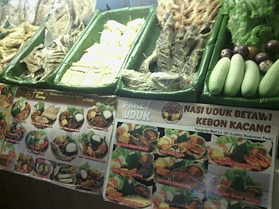 Various Indonesian fast food dishes