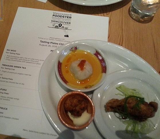 Tasting Plates - Sai Woo dumpling fritter and drumette