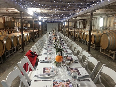 Abbotsford Harvest Dinner setting at Mt Lehman Winery