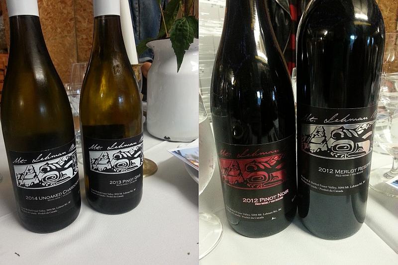 Mt Lehman Unoaked Chardonnay Pinot Gris Pinot Noir and Merlot Reserve wines