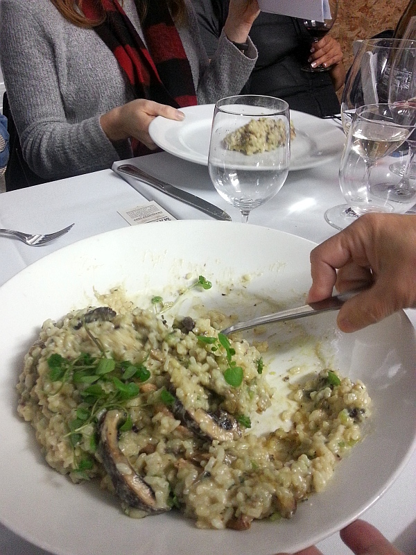 Organic Fraser Valley rice risotto with roasted shiitake mushrooms