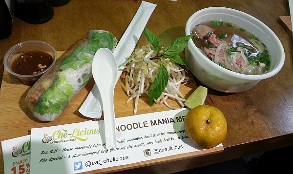 Che-Licious Zen Salad Roll and Pho