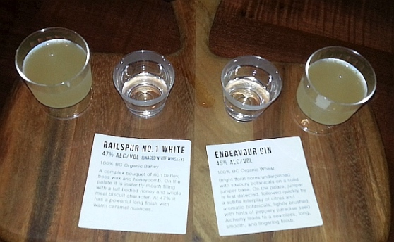 Liberty Distillery - Basford cocktail Railspur No 1 White Whiskey and Endeavour Gin