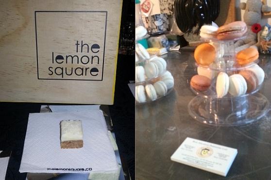 The Lemon Square and Bon Macaron treats to sample