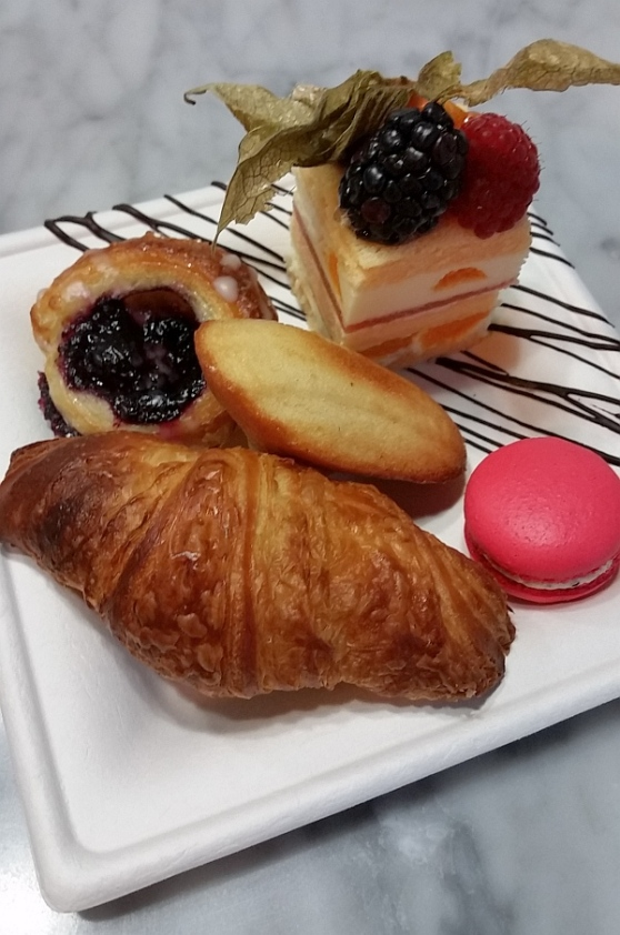 Ganache Patisserie - Crossaintm Madeleine, Macaron, and Goyave Citron Mandarine