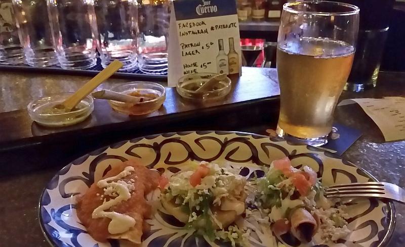 Patron Tacos & Cantina Sopecito, Flautita and Enchilada