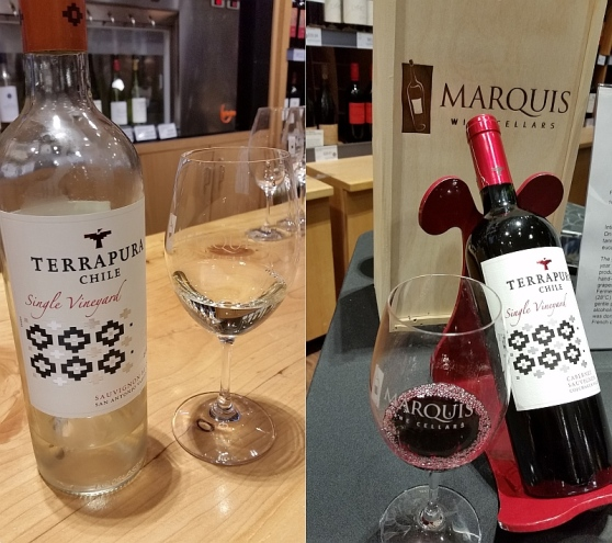 Terrapura Chilean wines at Marquis Wine Cellars
