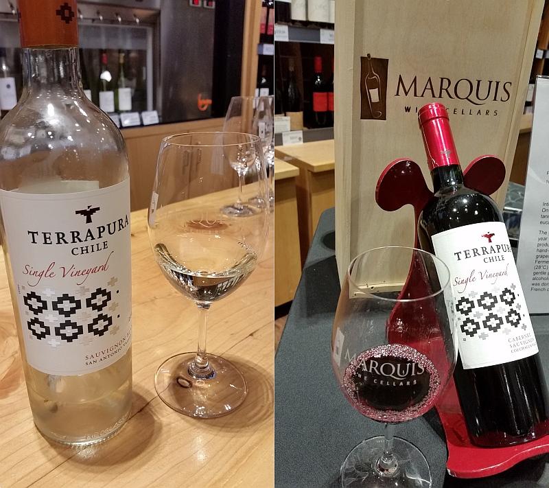 Terrapura Chilean wines at Marquis Wine Cellars