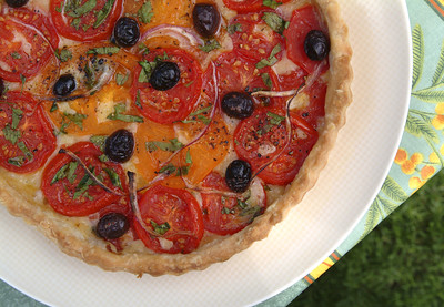 Tomato Tarte (photo by Hamid Attie)
